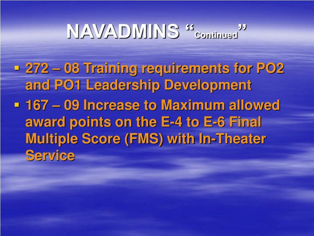 """NAVADMINS """""""