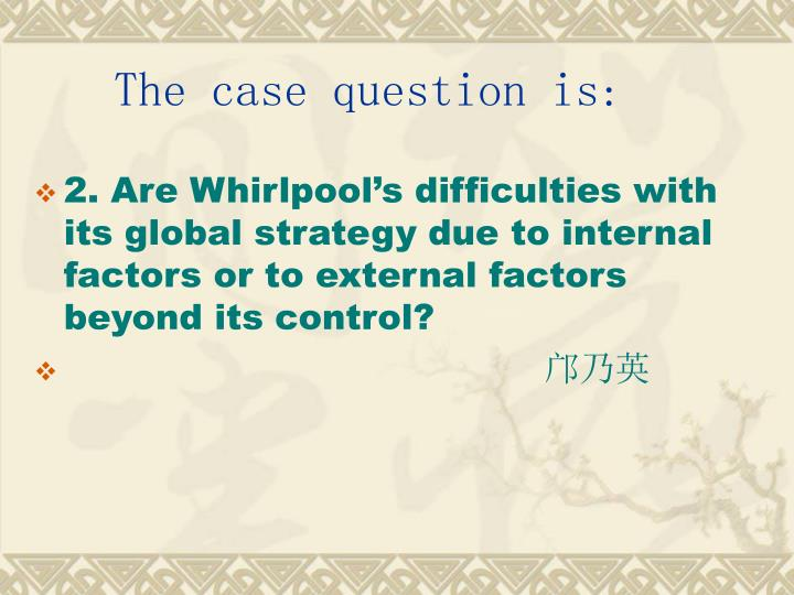 The case question is: