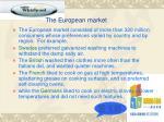 the european market