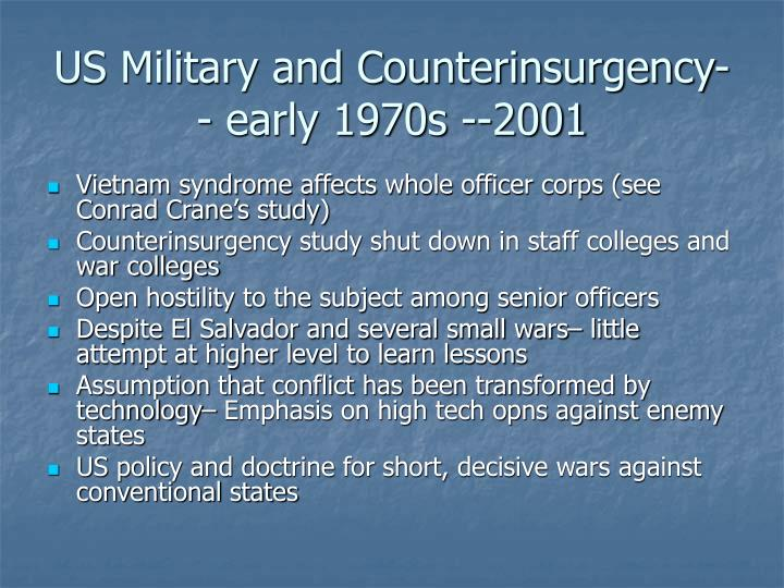 Us military and counterinsurgency early 1970s 2001 l.jpg