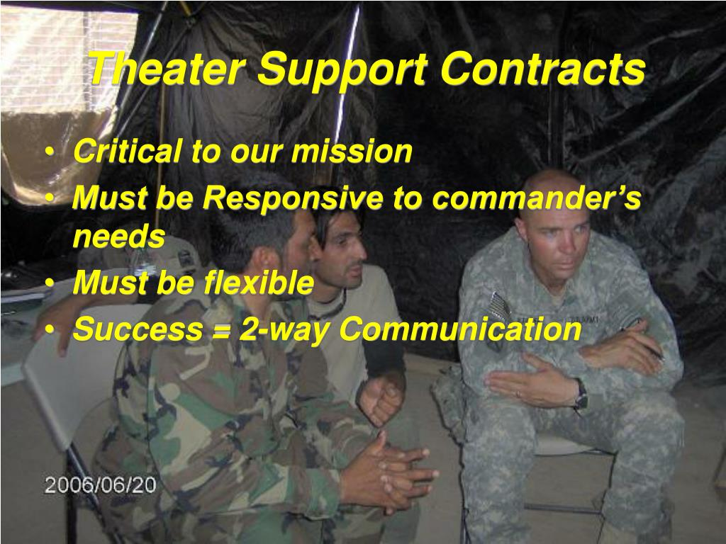 Theater Support Contracts
