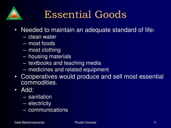 Essential Goods