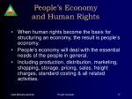 people s economy and human rights