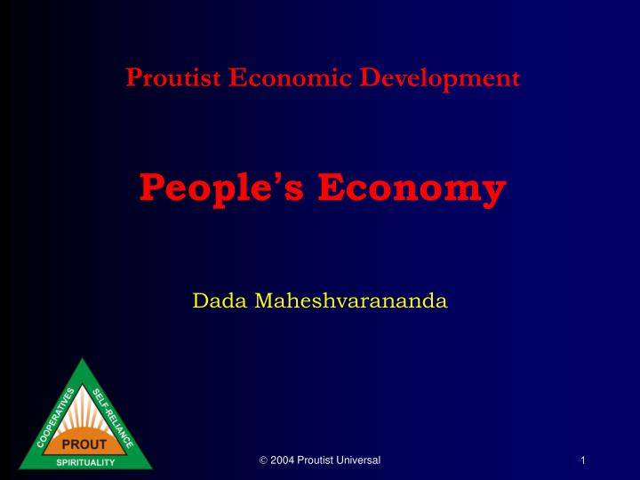 Proutist economic development people s economy