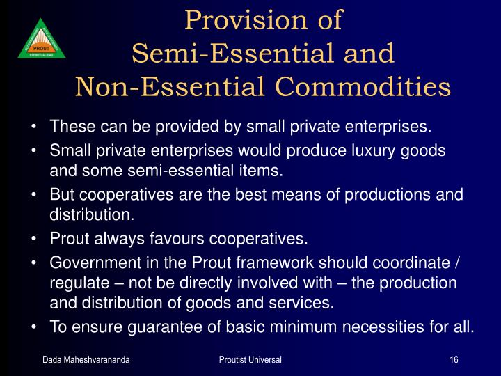 Provision of