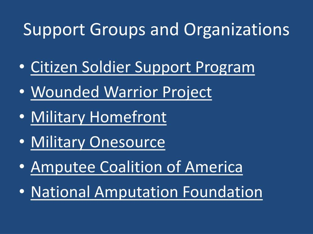Support Groups and Organizations