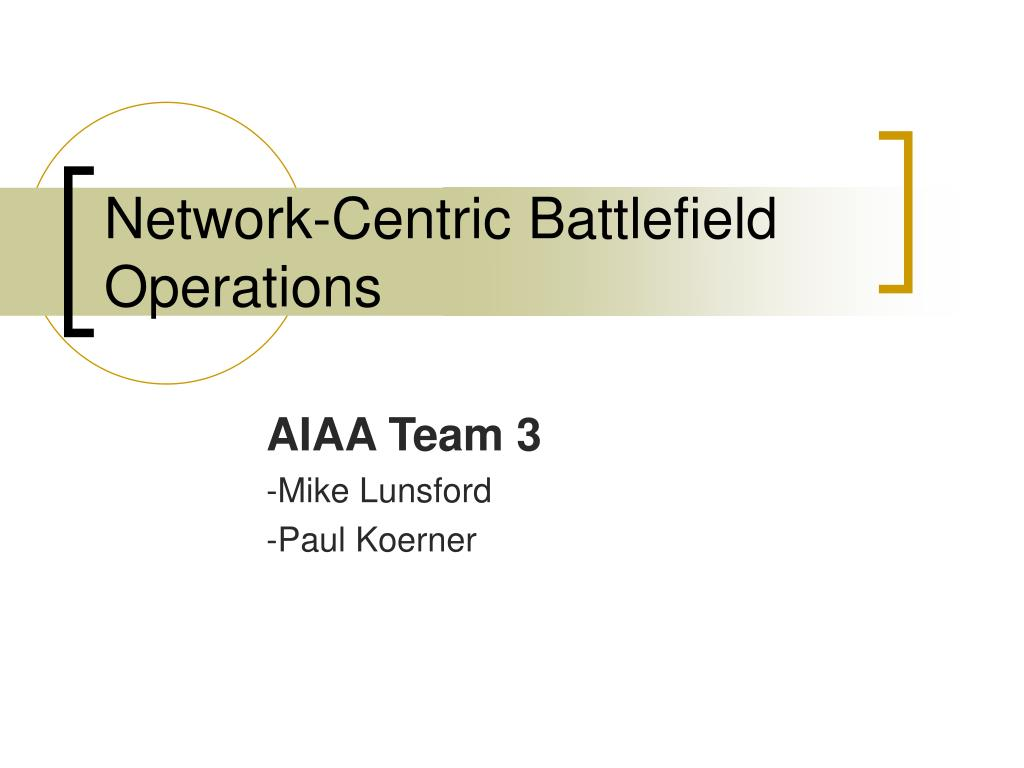 Network-Centric Battlefield Operations