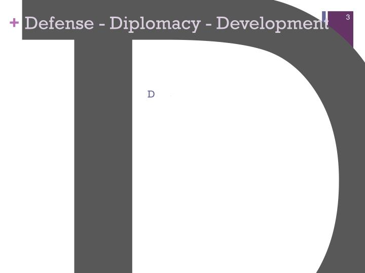 Defense diplomacy development