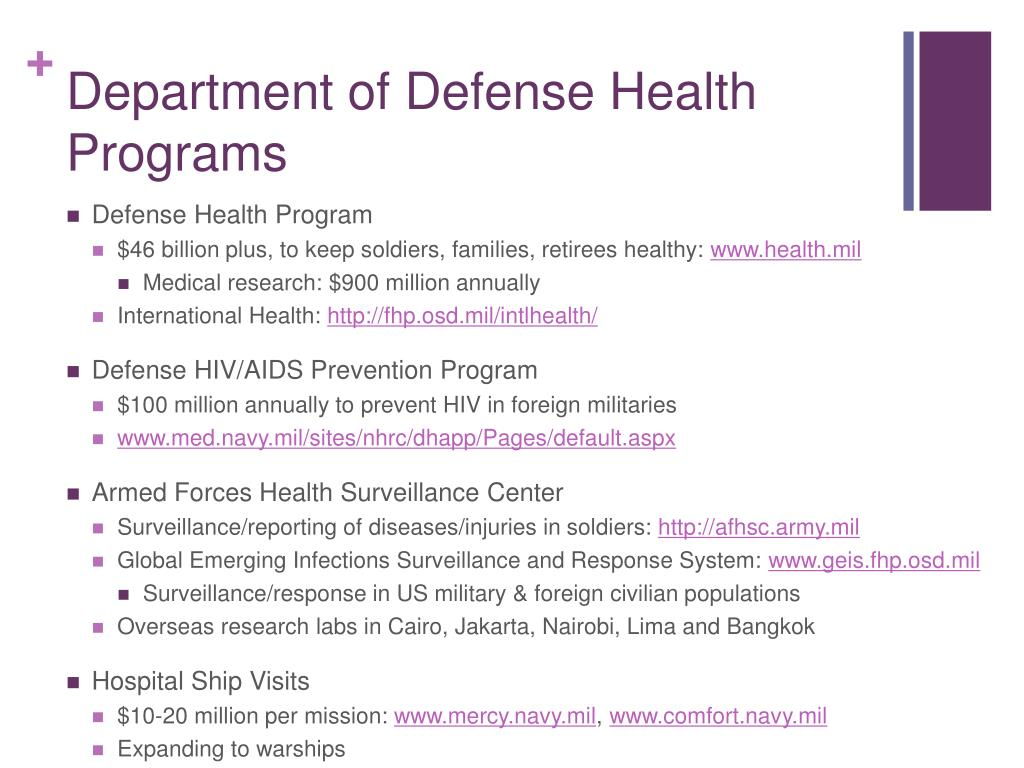 Department of Defense Health Programs