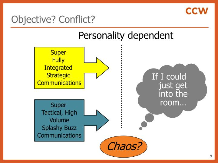 Objective? Conflict?
