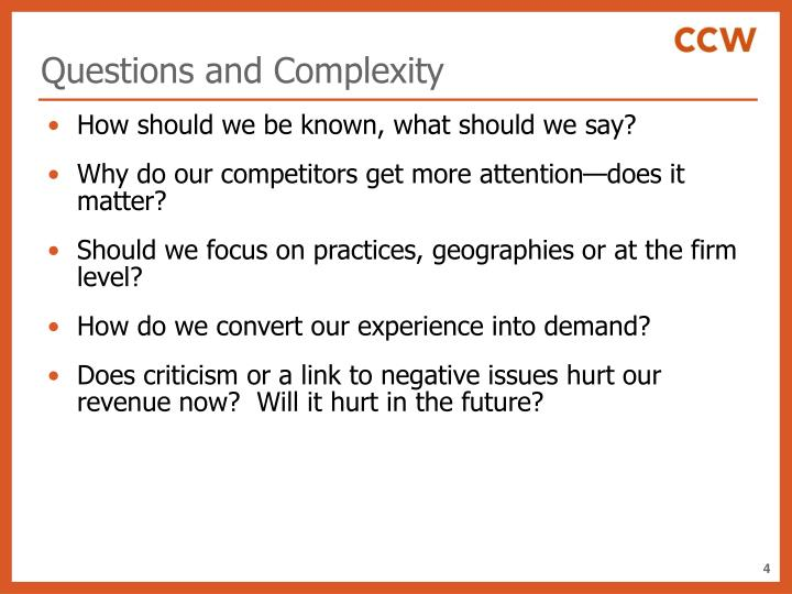 Questions and Complexity