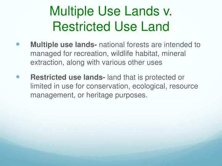 Multiple Use Lands v.