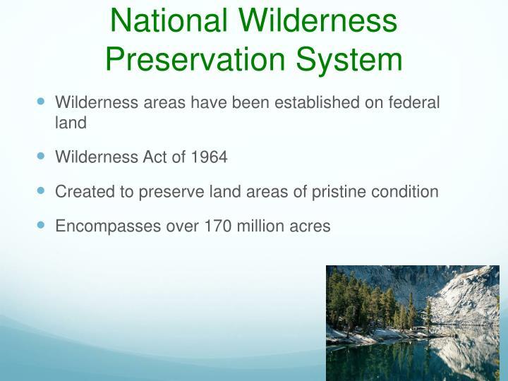 National Wilderness Preservation System