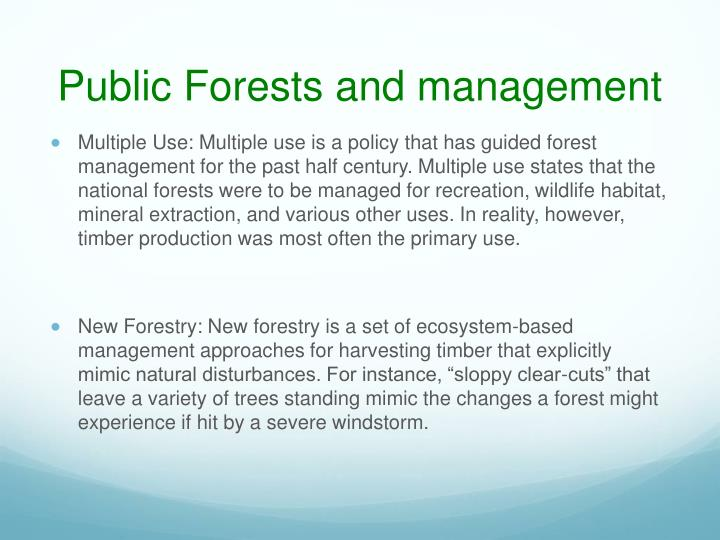 Public Forests and management