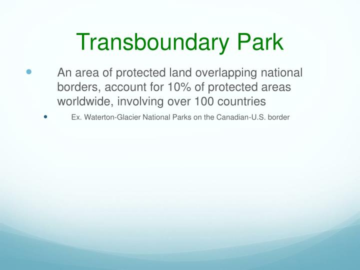 Transboundary Park