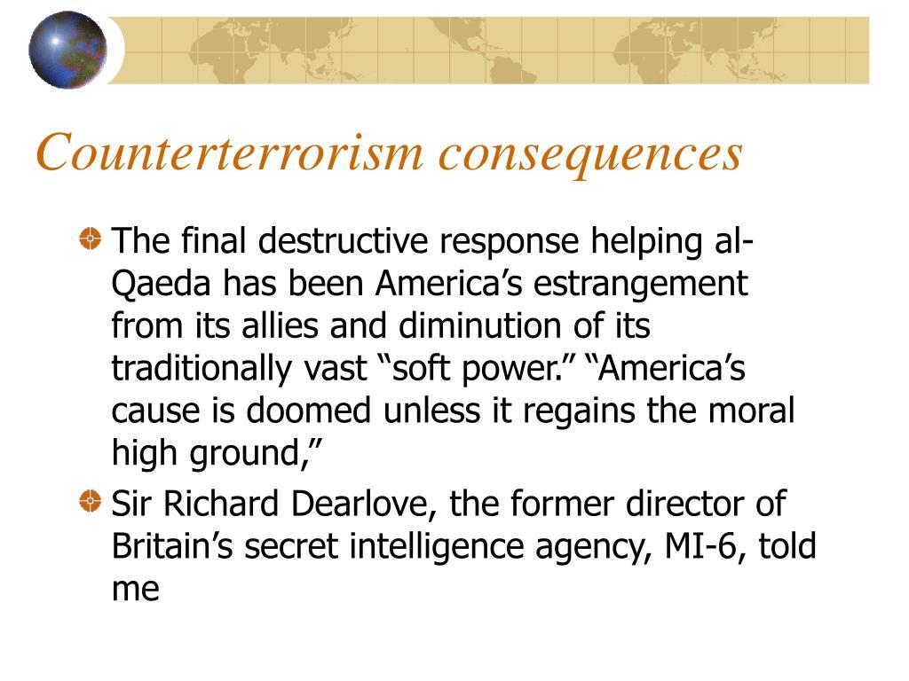 Counterterrorism consequences
