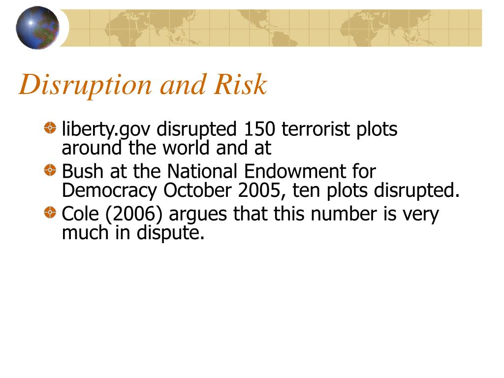 Disruption and Risk