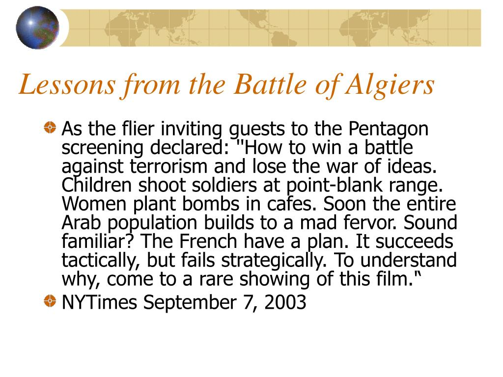 Lessons from the Battle of Algiers