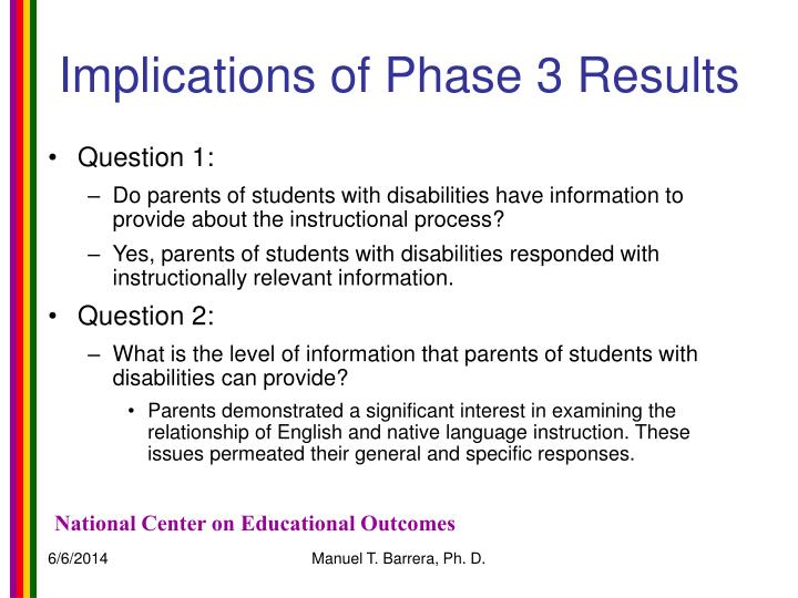 Implications of Phase 3 Results