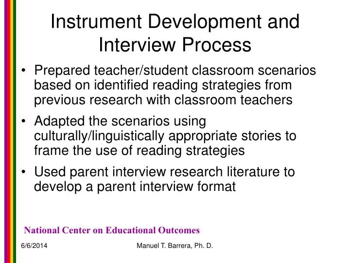 Instrument Development and Interview Process