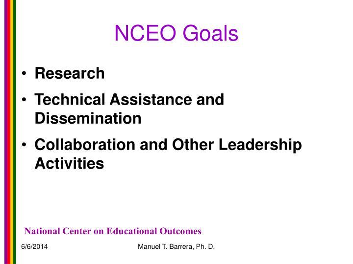 NCEO Goals