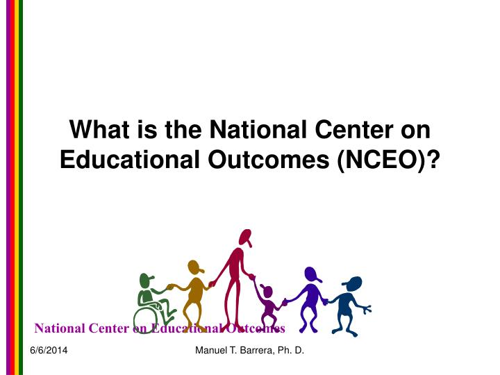 What is the National Center on Educational Outcomes (NCEO)?