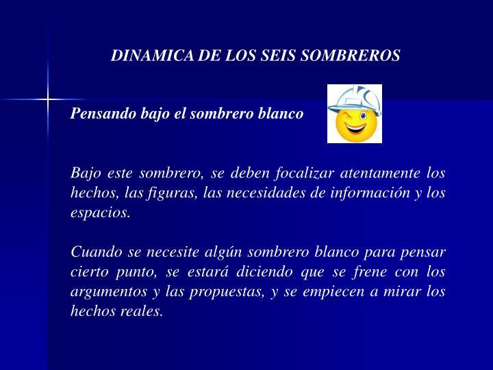DINAMICA DE LOS SEIS SOMBREROS
