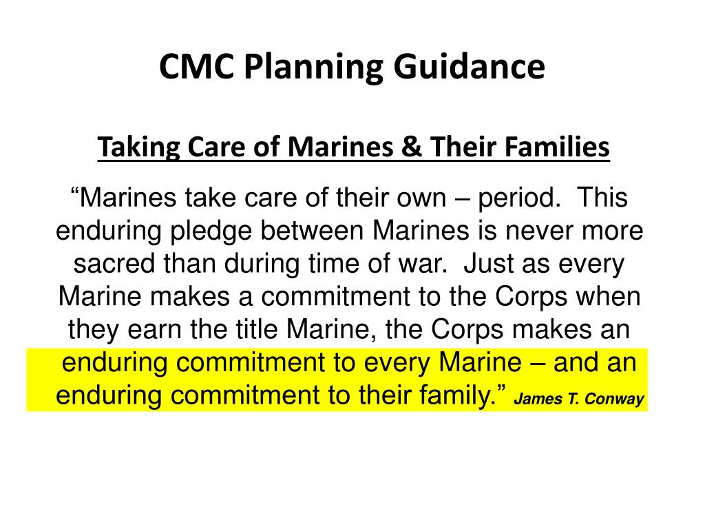 Taking Care of Marines & Their Families