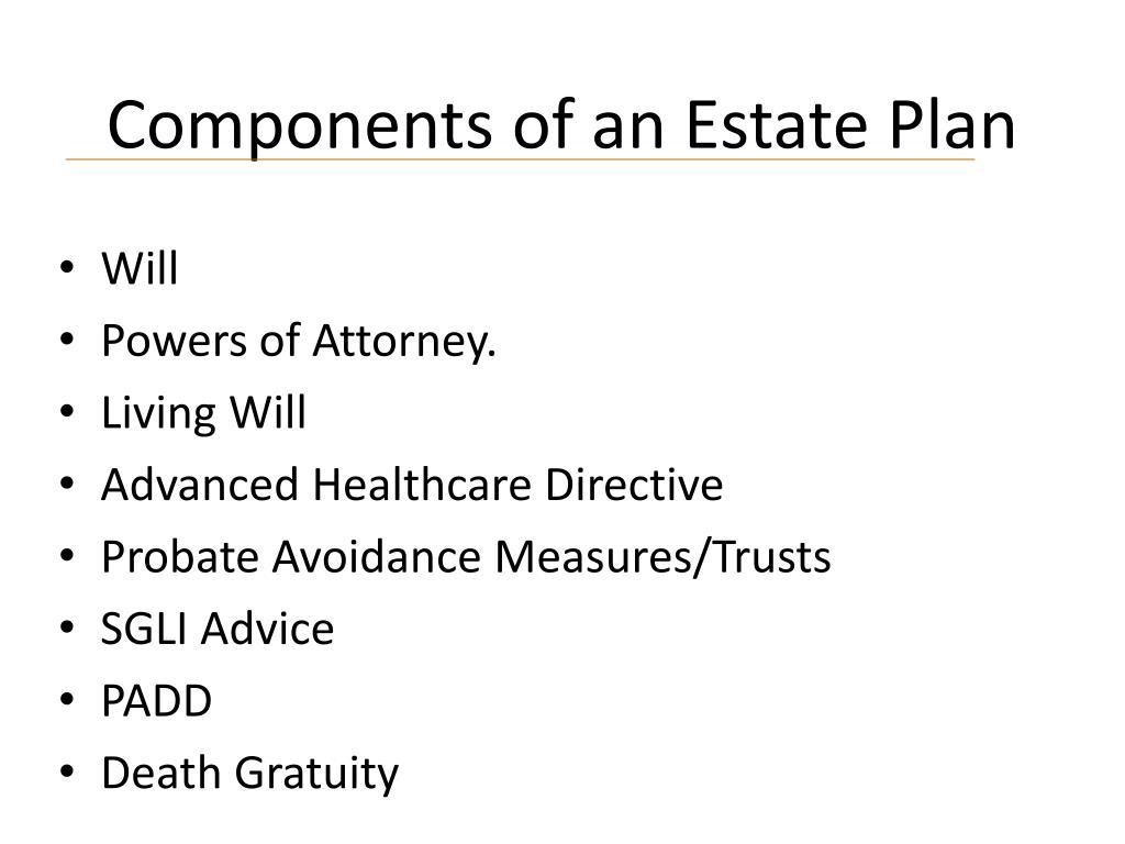Components of an Estate Plan
