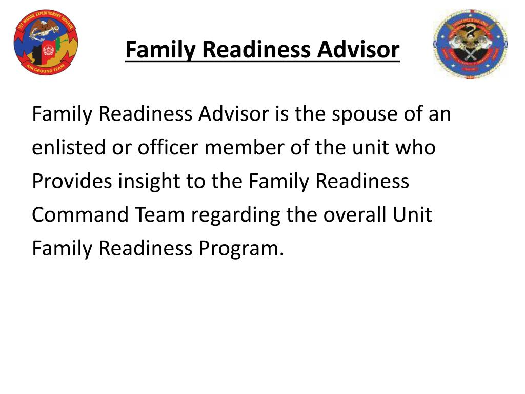 Family Readiness Advisor