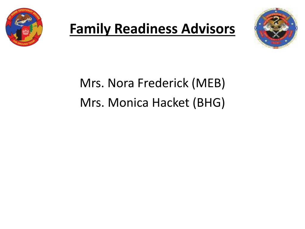Family Readiness Advisors