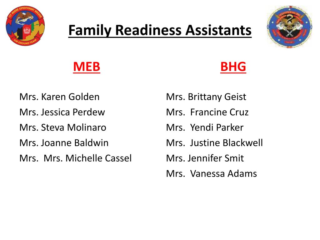 Family Readiness Assistants