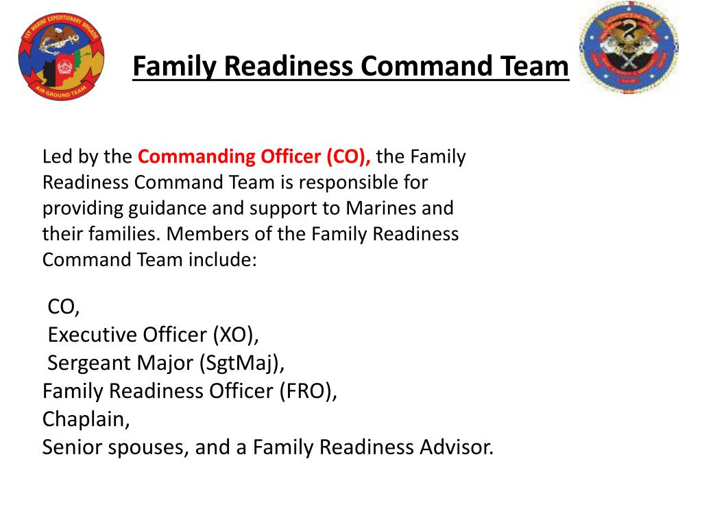 Family Readiness Command Team
