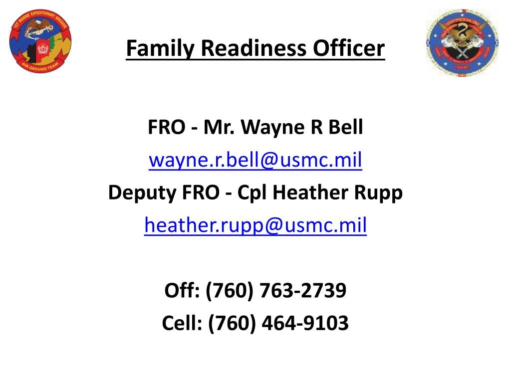 Family Readiness Officer