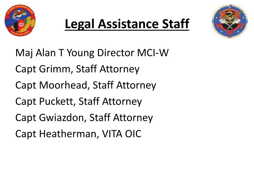 Legal Assistance Staff