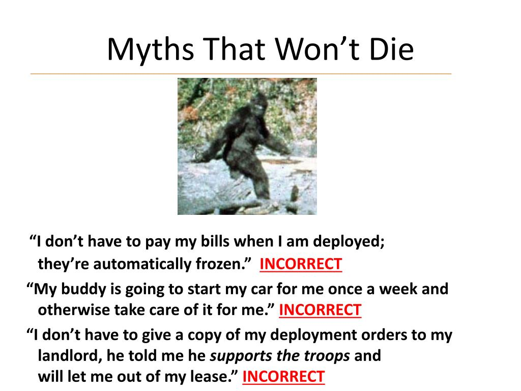 Myths That Won't Die