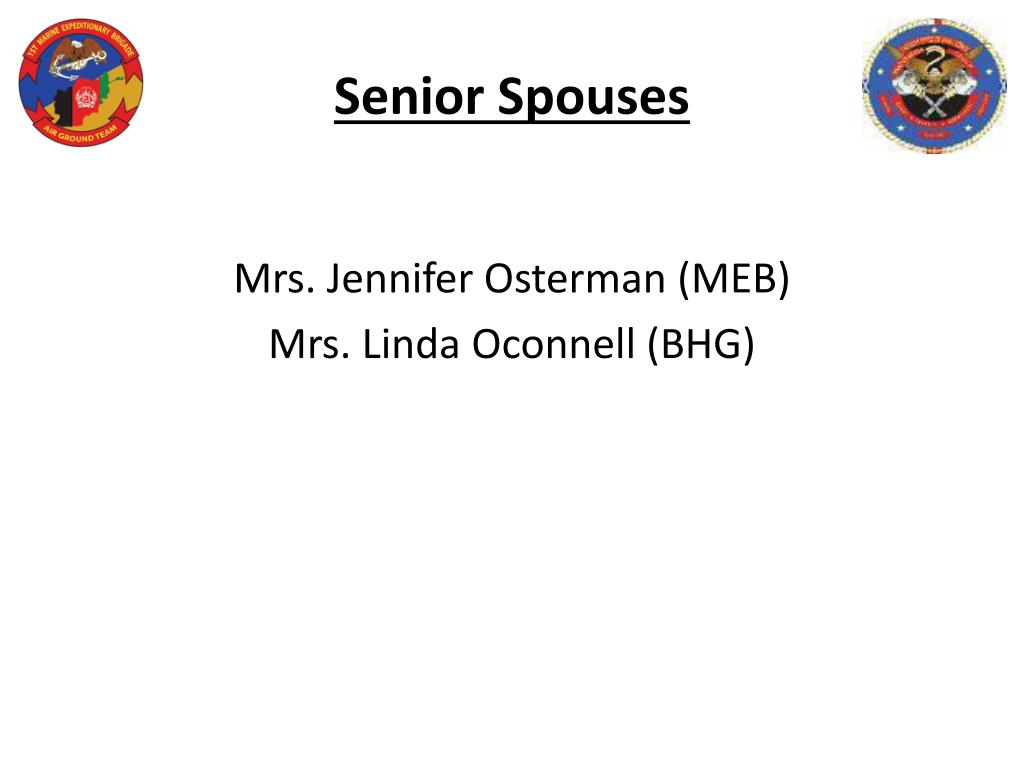 Senior Spouses