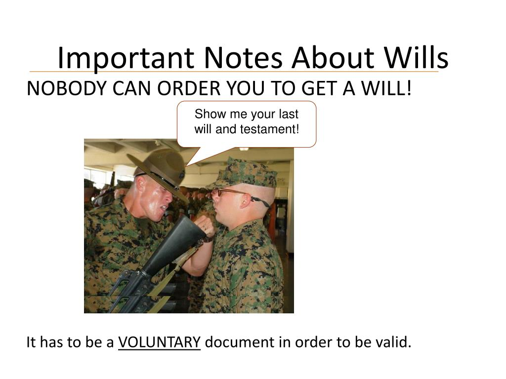 Important Notes About Wills