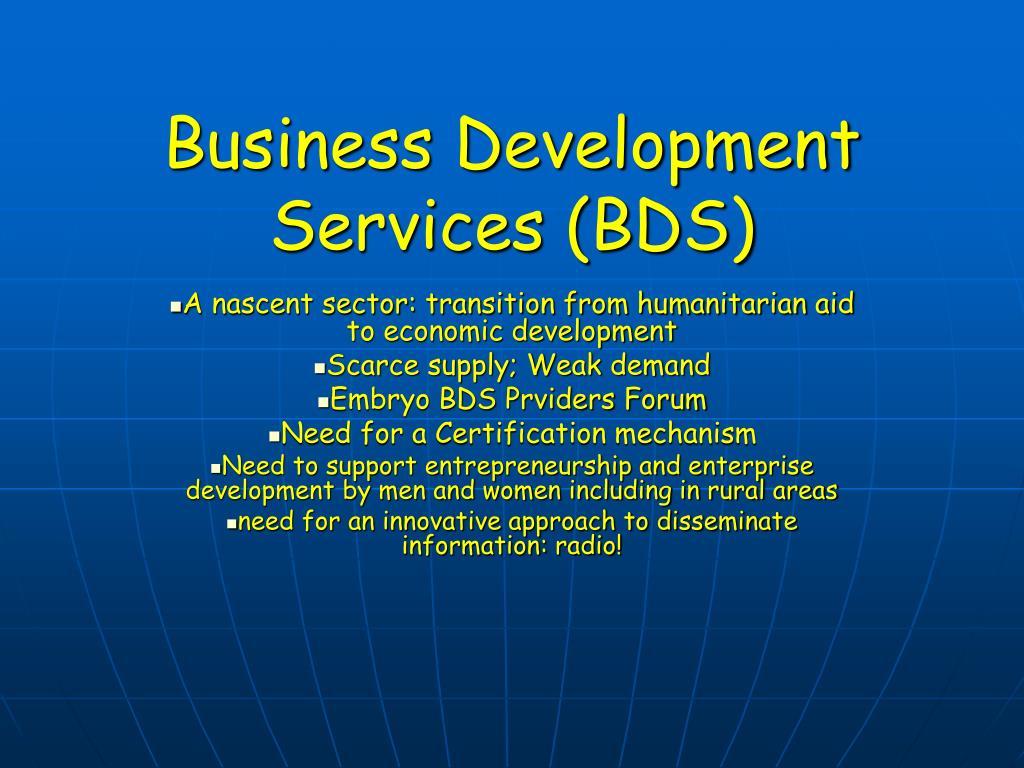 Business Development Services (BDS)