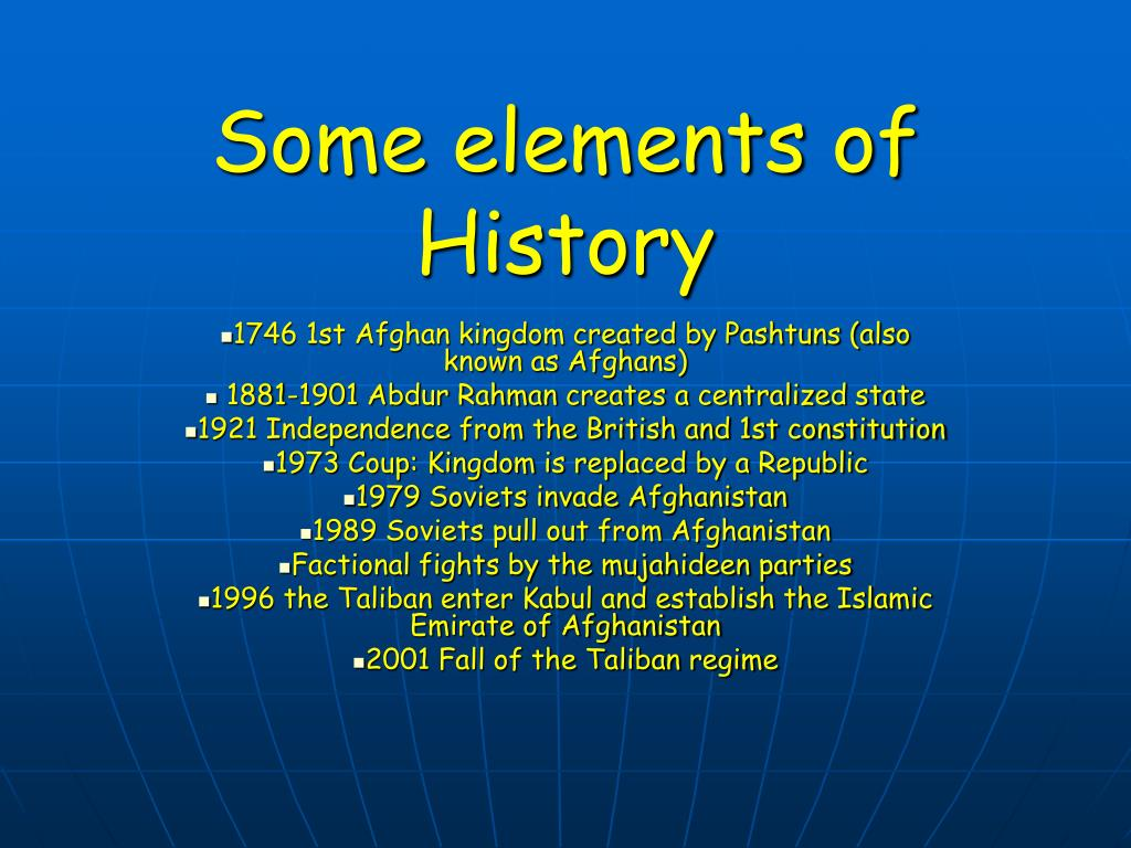 Some elements of History