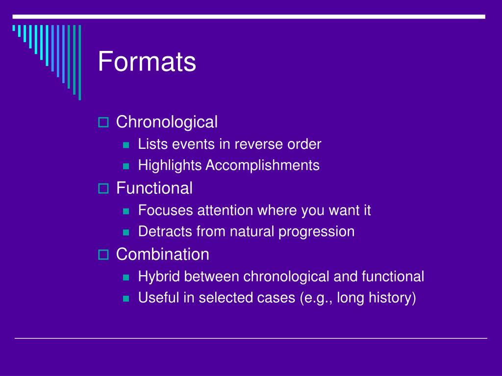 Formats