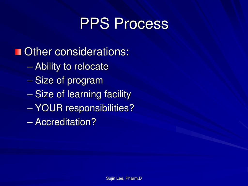 PPS Process