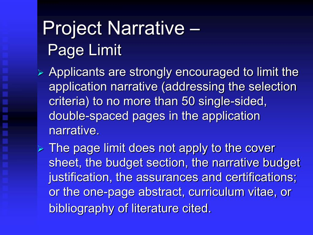 Project Narrative –