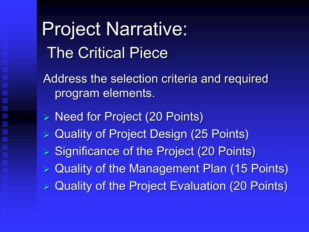 Project Narrative: