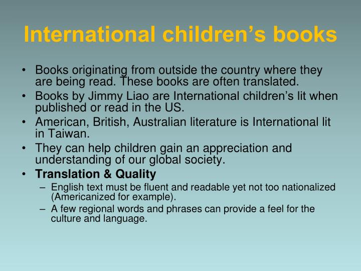 International children's books