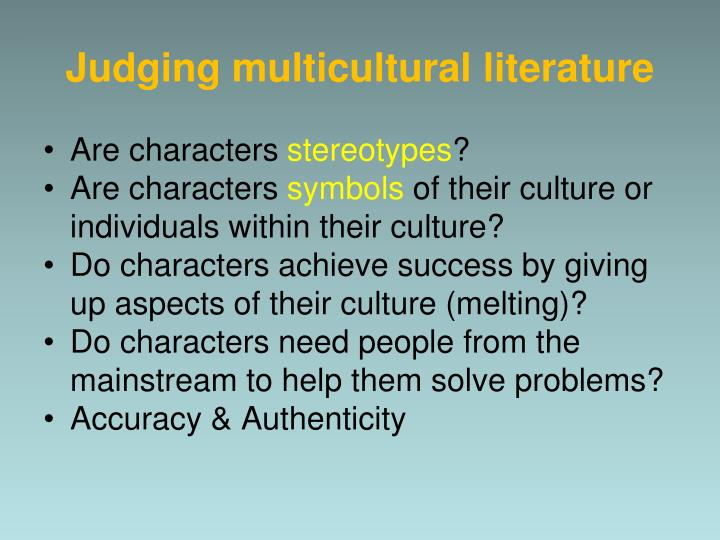 Judging multicultural literature