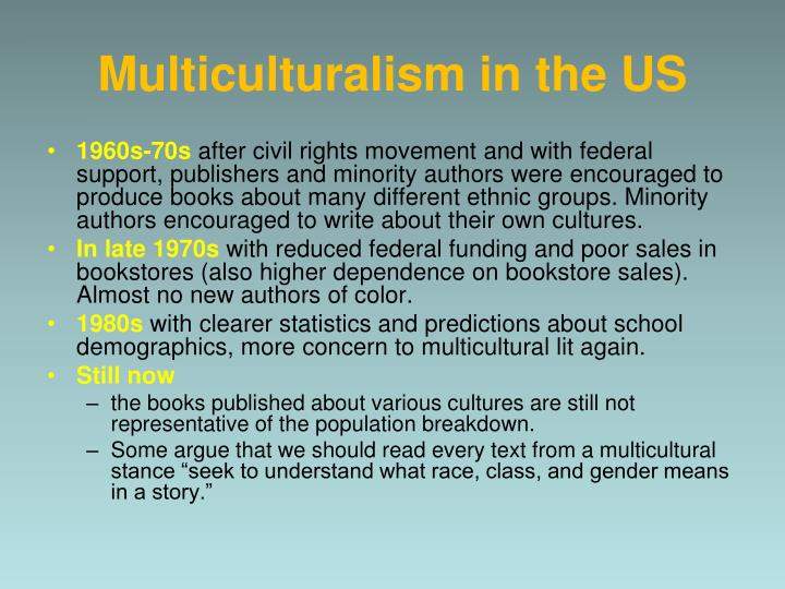 Multiculturalism in the US