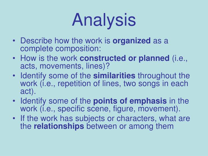 an analysis of the similarities of the two artist Writing a formal analysis in art history the goal of a formal analysis is to explain how the formal elements of a work of art affect the representation of the subject matter and expressive.