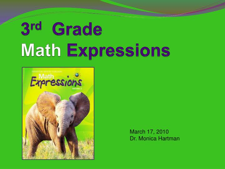 3 rd grade math expressions