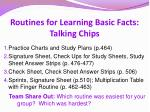 routines for learning basic facts talking chips1